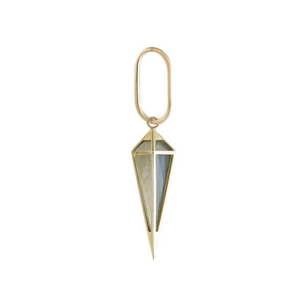 Large Oval Clicker Hoop + Long Point Pendulum Plaque