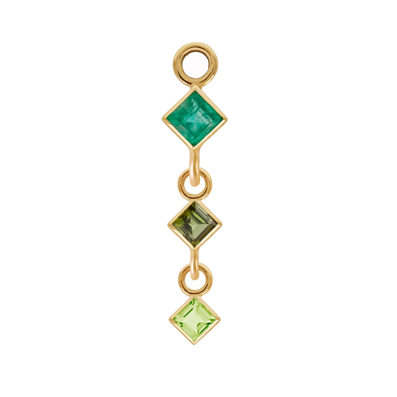 metier by tomfoolery triple gemstone plaque