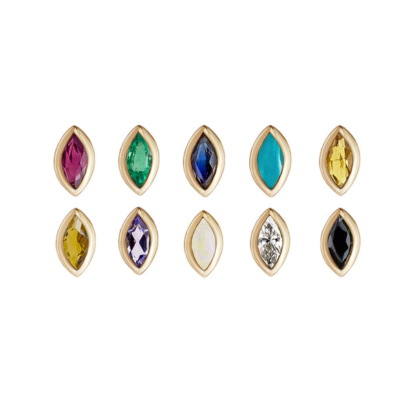 Mini Marquise Gemstone Studs