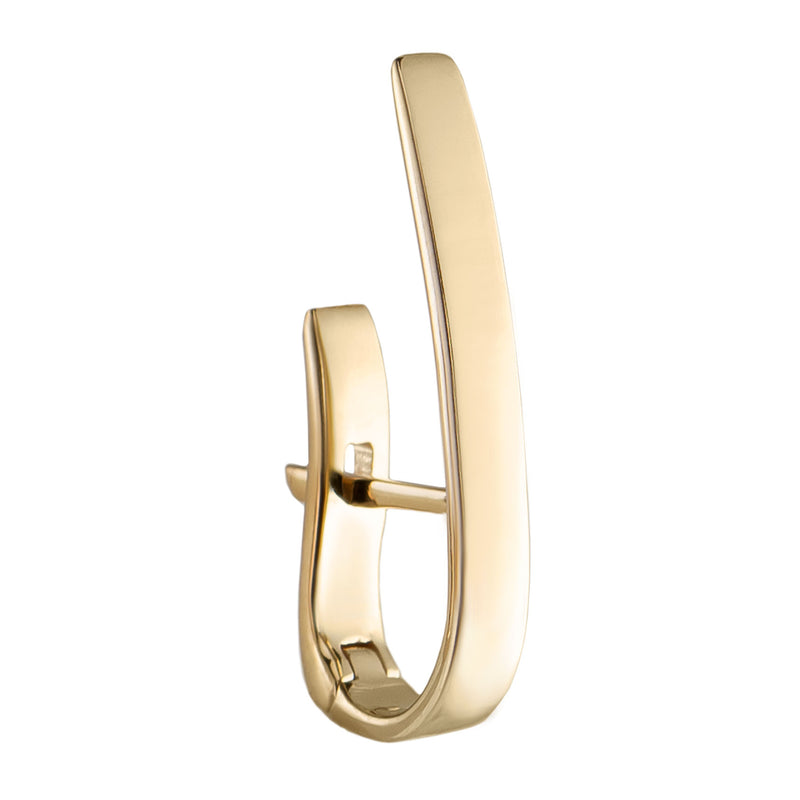 Métier 9ct Yellow Gold London Gold Long Bar Huggie