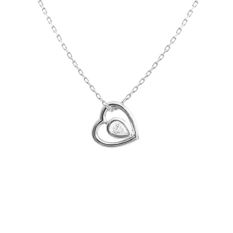 Metier by Tomfoolery: Ouvert Heart Diamond Pendant