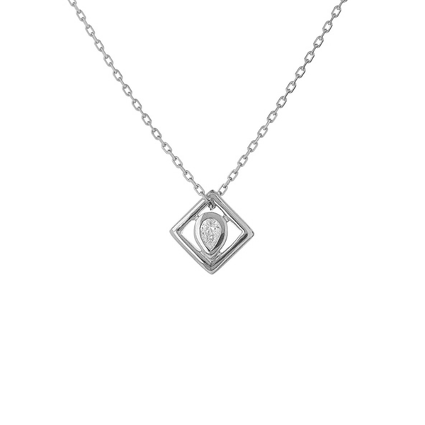 Metier by Tomfoolery: Ouvert Square Diamond Pendant