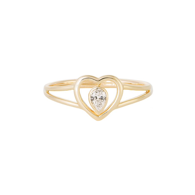Metier by Tomfoolery: Ouvert Heart Diamond Ring