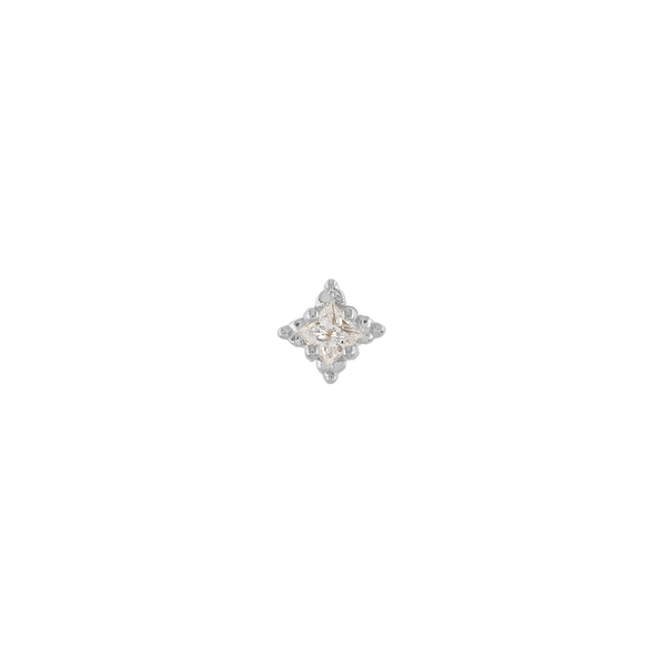 Metier by Tomfooley: Dala 2 White Diamond Stud Earring
