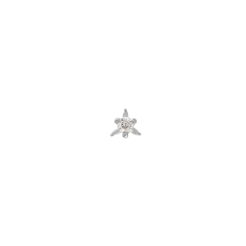 Metier by Tomfoolery: Dala 6 White Diamond Stud Earring