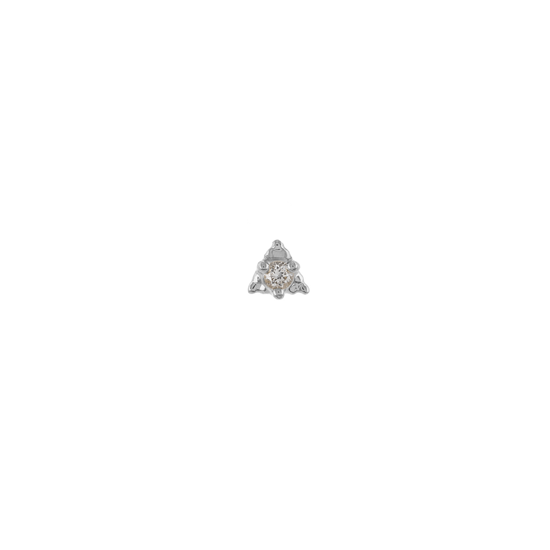 Metier by Tomfoolery: Dala 7 White Diamond Stud Earring