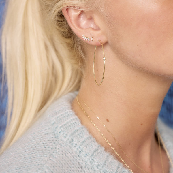 Dala Details Marquise Diamond Studs & Screwbacks