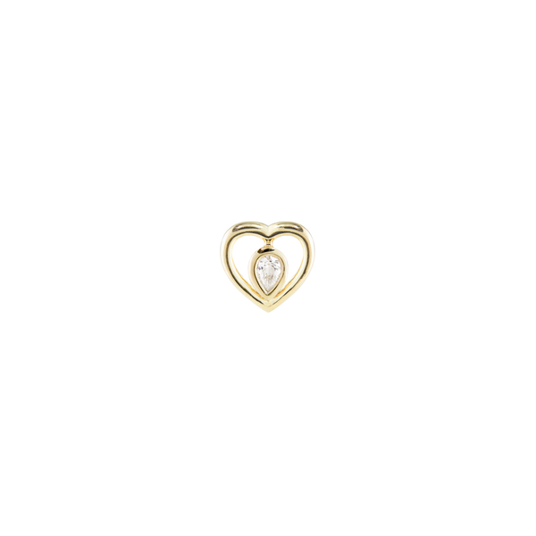 metier by tomfoolery: Ouvert Gold Heart Diamond Plaque
