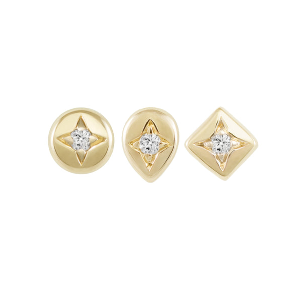 Star Set Diamond Stud Earring