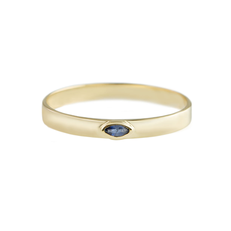 Metier by Tomfoolery: Sapphire Stacking Bands