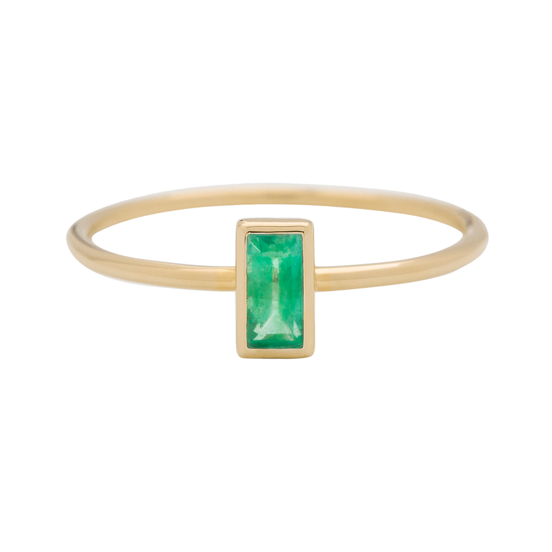 Metier by Tomfoolery: Emerald Stacking Rings