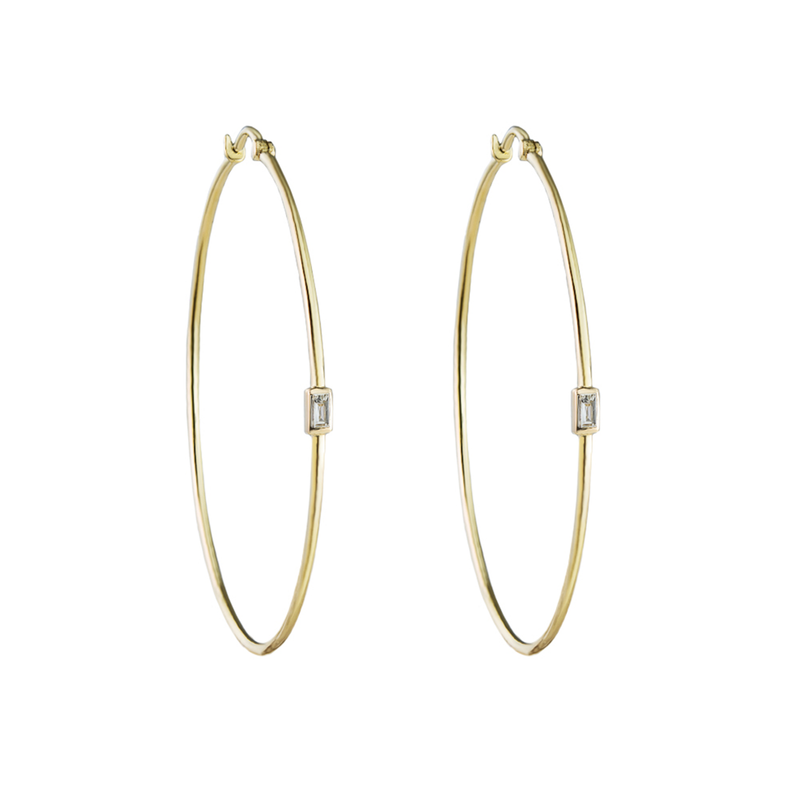 Metier by Tomfoolery: Large Diamond Hoops