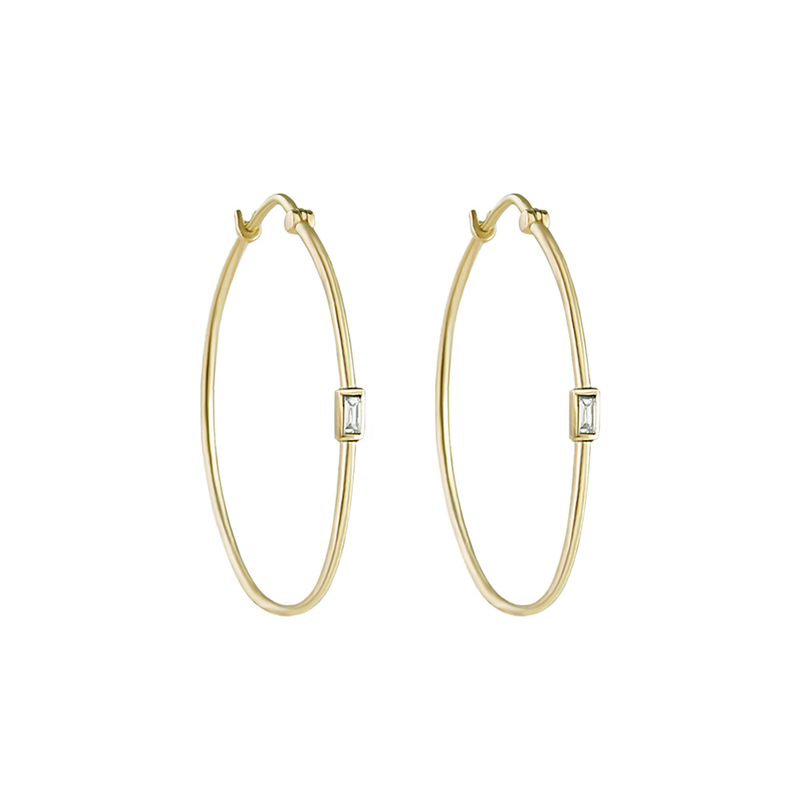 Metier by Tomfoolery: Midi Diamond Hoops