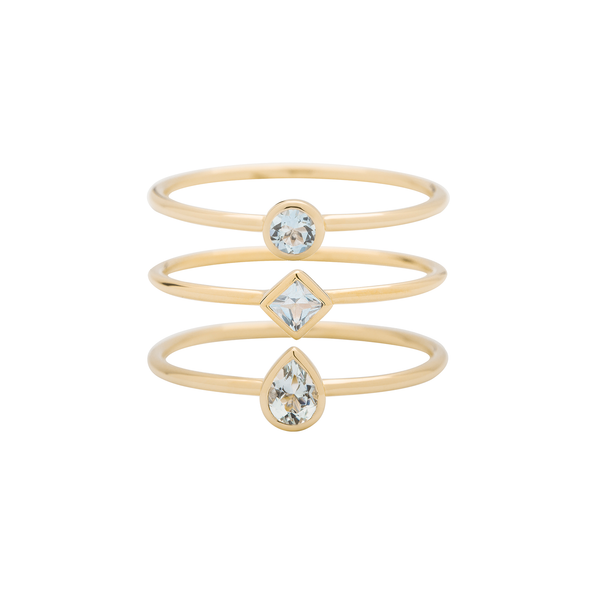 Metier by Tomfoolery: Aquamarine Stacking Rings