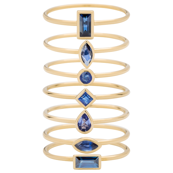 Metier by Tomfoolery: Sapphire Stacking Rings