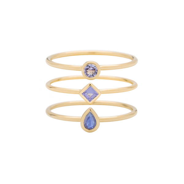 Metier by Tomfoolery: Tanzanite Stacking Rings