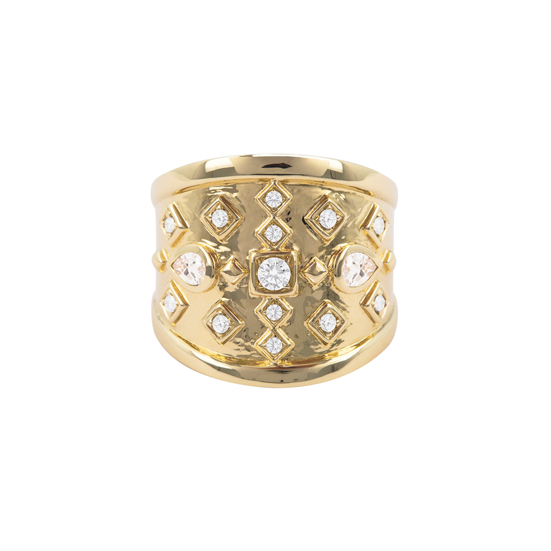 Metier by Tomfoolery: Diamond Shield Ring