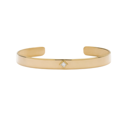 Metier by Tomfoolery: Princess-Cut Diamond Cuff Bracelet