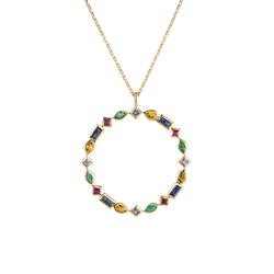 Metier by Tomfoolery: Midi Mixed Cut Gemstone Pendant