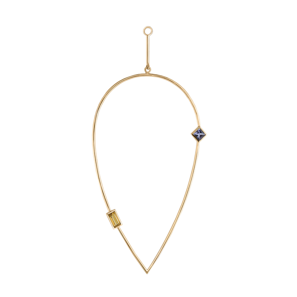 metier by tomfoolery: Ouvert Tear Citrine & Tanzanite Plaque