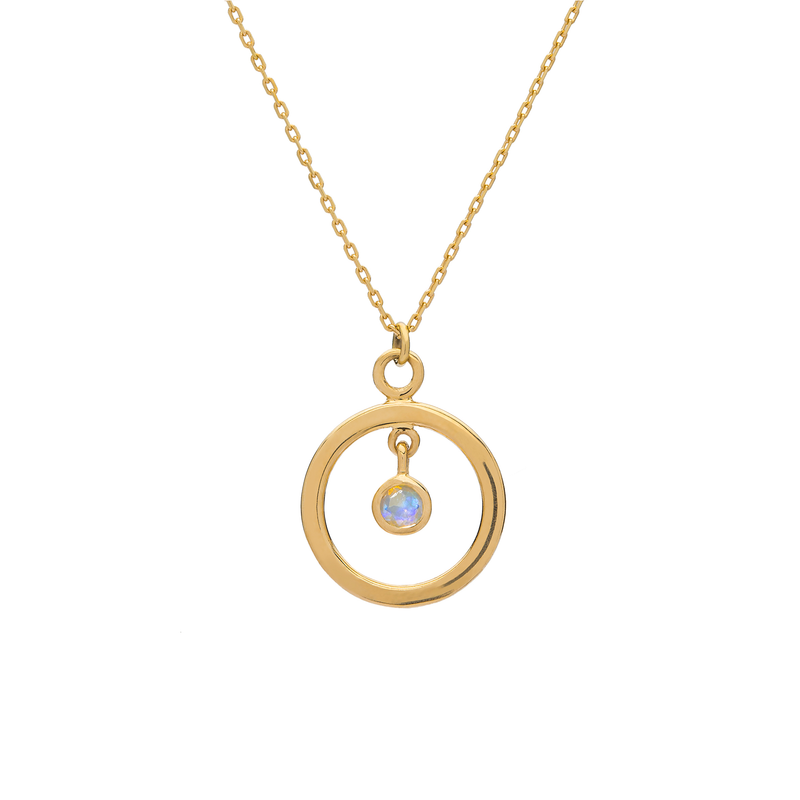 Metier by Tomfoolery: Opal Ouvert Pendant (Circle)
