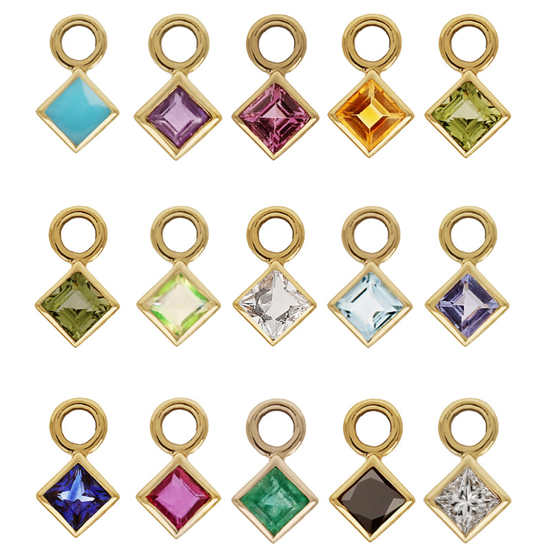 METIER BY TOMFOOLERY PRINCESS CUT GEMSTONE PLAQUES