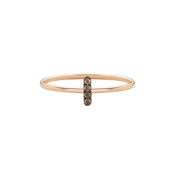 Rose Gold Champagne Diamond Bar Rings