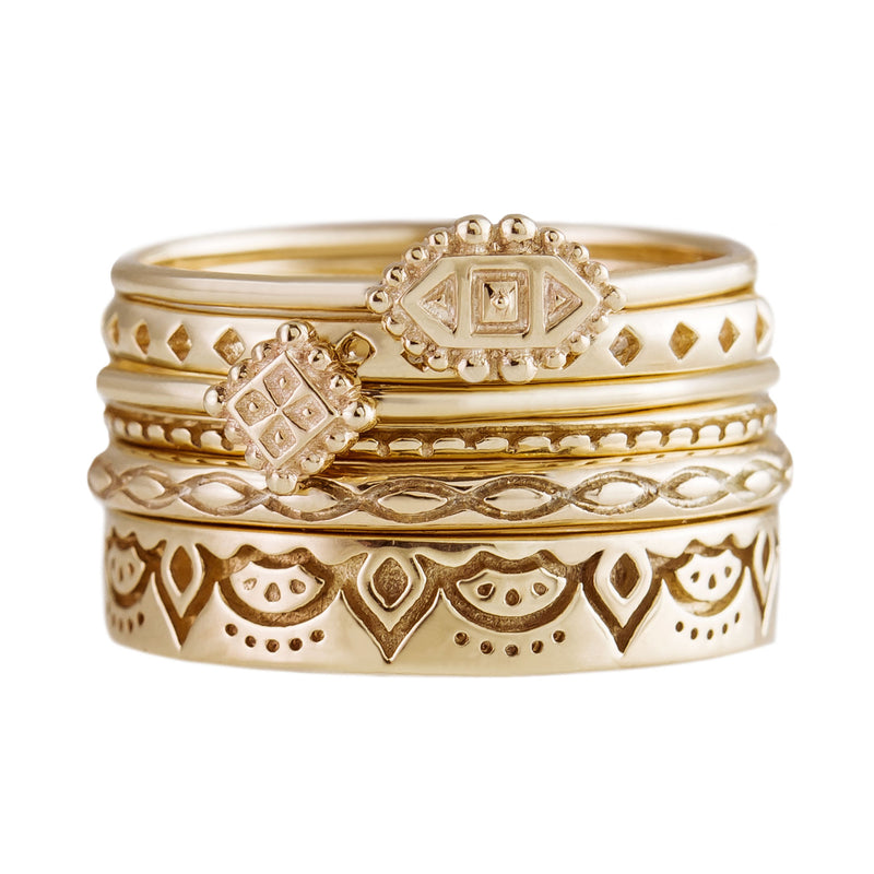 Wide Dala Stacking Bands
