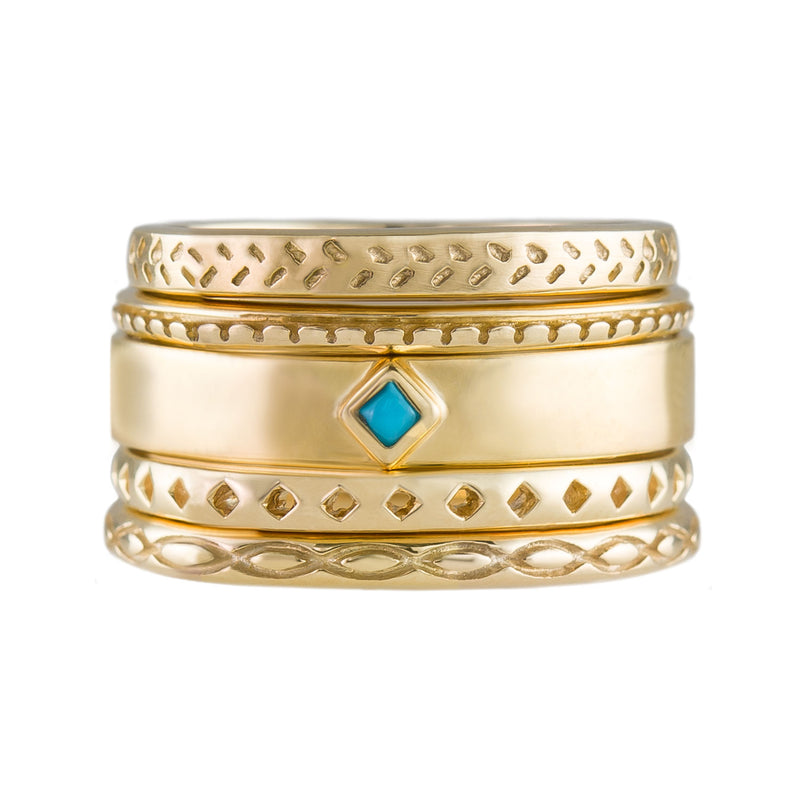 Turquoise Stacking Bands