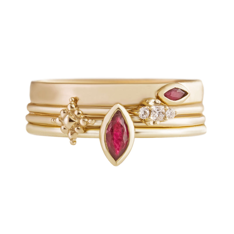 Ruby Stacking Rings