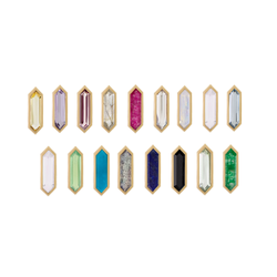 Mini Hexa Gemstone Studs