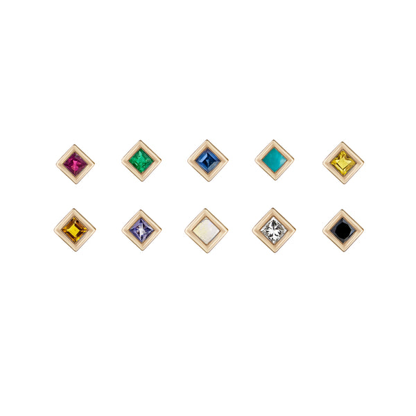 Mini Princess Gemstone Studs