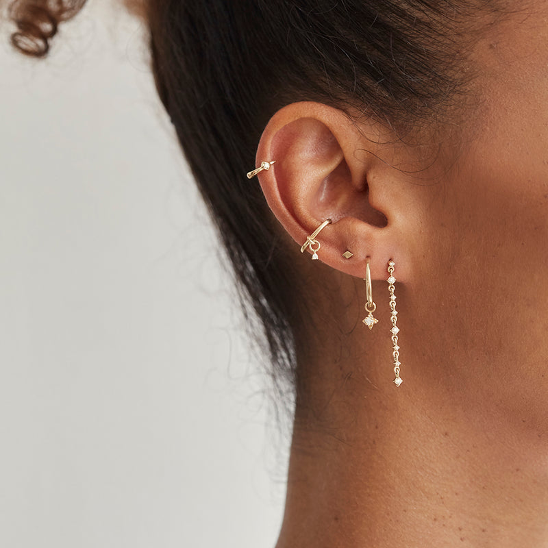metier by tomfoolery petit long drop studs