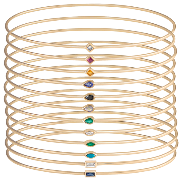 metier by tomfoolery: single gemstone bangle