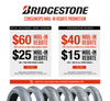 Save up to 60$ on Bridgestone Tires!