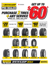 Dunlop Pro Dealer Rebate on Tires and Service