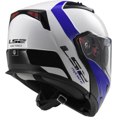 LS2 Metro EVO Modular Helmet Rapid Blue XS with inner visor Part# 324-1221
