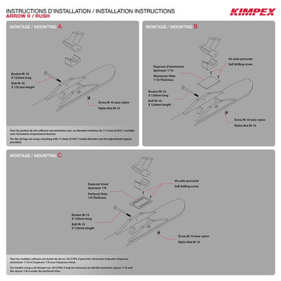Kimpex Rush Ski Kits  Part# 4080080-66E