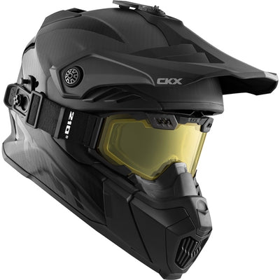 Carbon Fiber CKX Titan Air Flow Helmet with 210° Goggles - Euromoto 2018