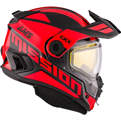 CKX Mission AMS Full Face Helmet Space Red - Winter Electric Double Shield