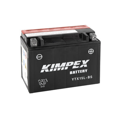 Kimpex Battery Maintenance Free AGM YTX15L-BS  Part# HTX15L-BS