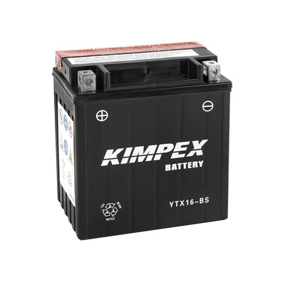 Kimpex Battery Maintenance Free AGM YTX16-BS  Part# HTX16-BS