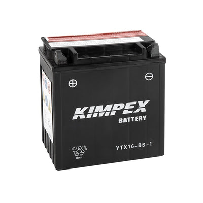 Kimpex Battery Maintenance Free AGM YTX16-BS-1  Part# HTX16-BS-1