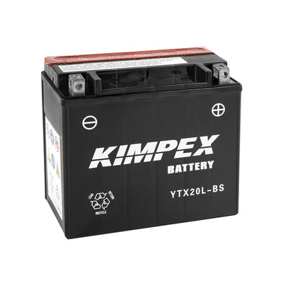 Kimpex Battery Maintenance Free AGM YTX20L-BS  Part# HTX20L-BS