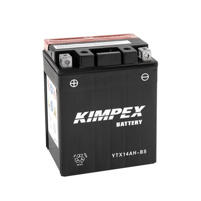 Kimpex Battery Maintenance Free AGM High Performance YTX14AH-BS  Part# HTX14AH-BS