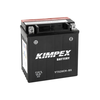 Kimpex Battery Maintenance Free AGM High Performance YTX20CH-BS  Part# HTX20CH-BS