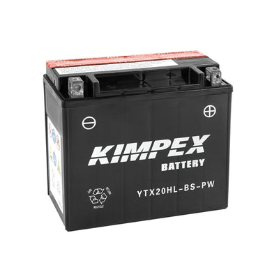 Kimpex Battery Maintenance Free AGM High Performance YTX20HL-BS-P  Part# HTX20HL-BS-PW