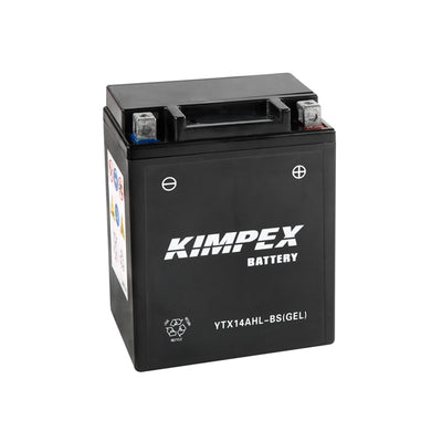 Kimpex Battery Maintenance Free AGM High Performance YTX14AHL-BS(GEL)  Part# HTX14AHL-BS(GEL