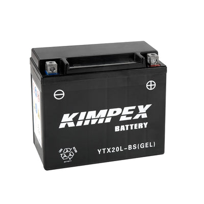 Kimpex Battery Maintenance Free AGM YTX20(L)-BS(GEL)  Part# NULL