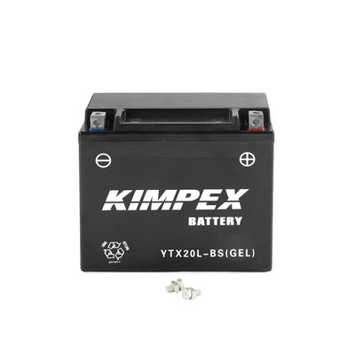 Kimpex Battery Maintenance Free AGM YTX20(L)-BS(GEL)  Part# HTX20(L)-BS(GEL)